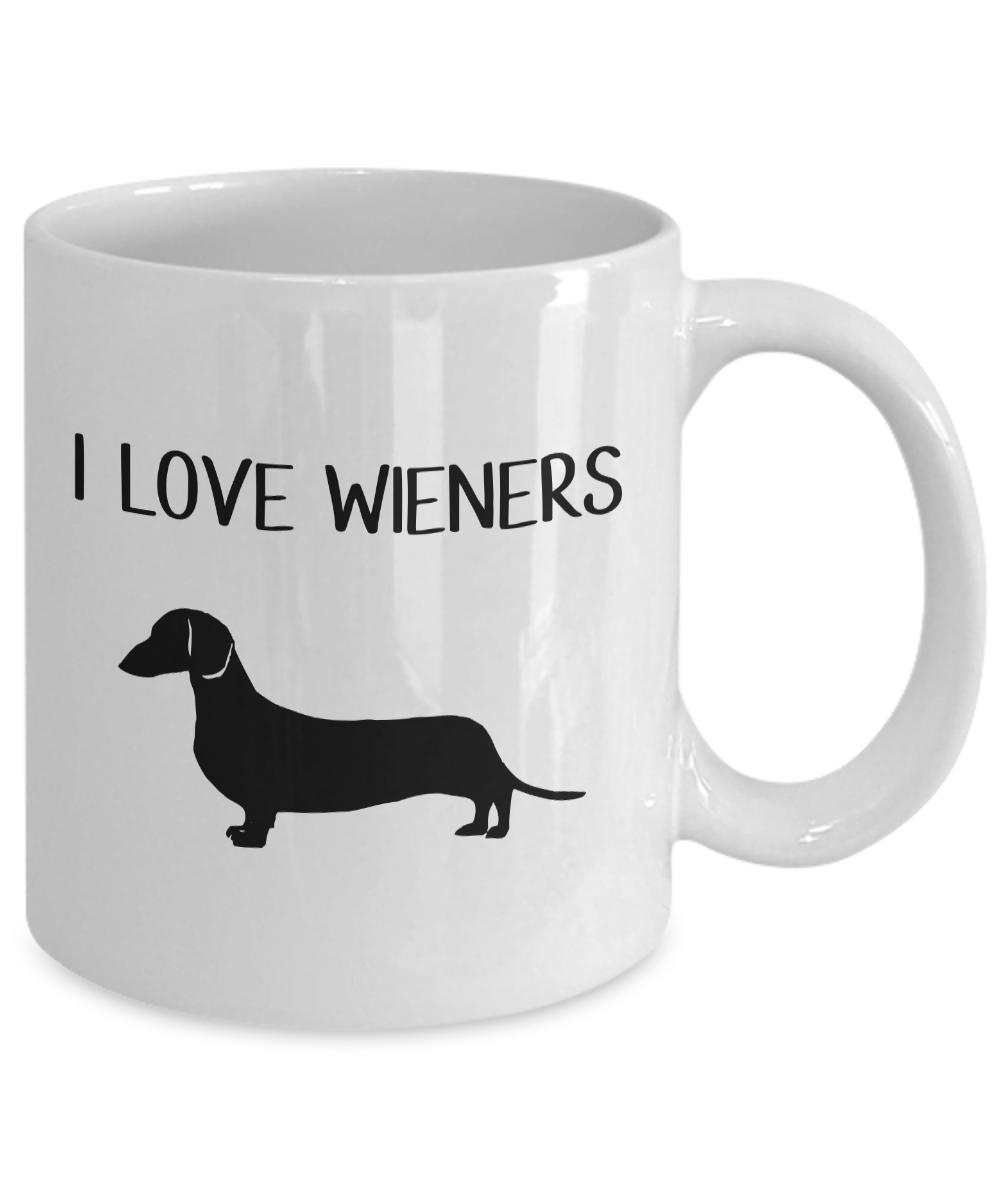 Funny Dachshund Coffee Mug Dachshund sausage dog gift I Love Wieners