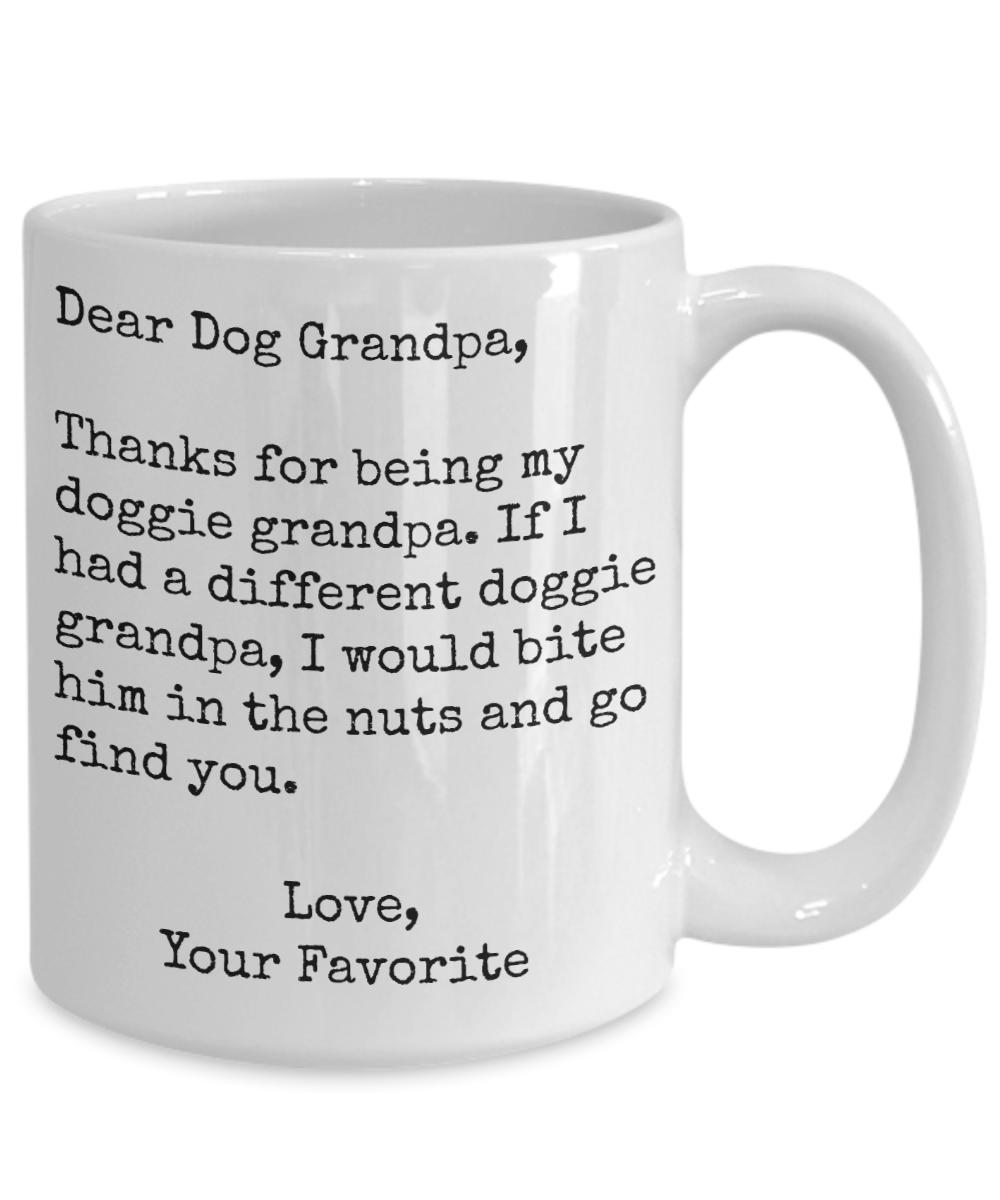 Dog Grandpa Mug Gift Fur Baby Present from Pooch Grandpuppy Grandpup Granddog