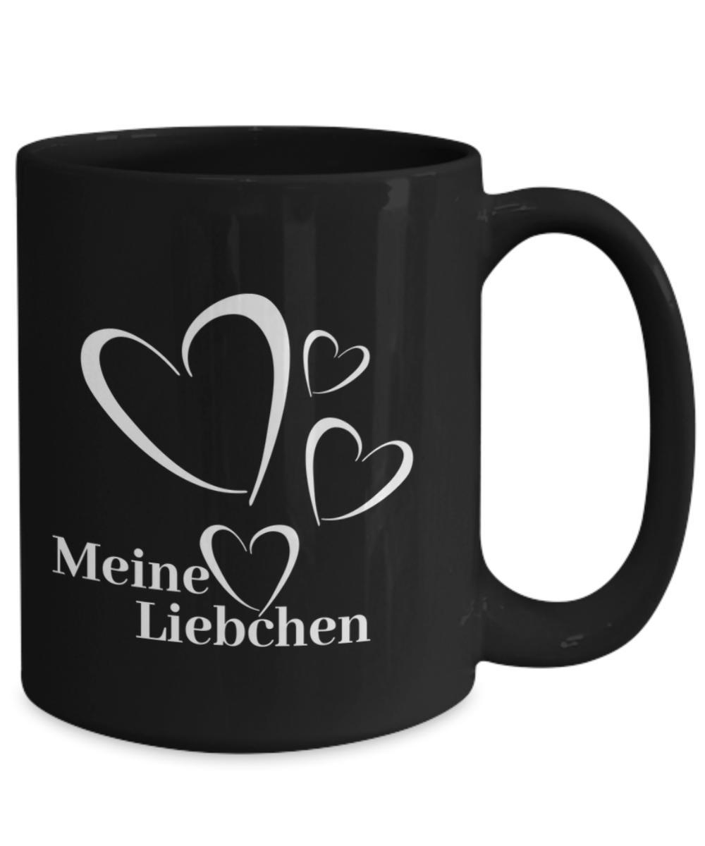 Meine Liebchen German Mug My Love Mug sweetheart mugs black