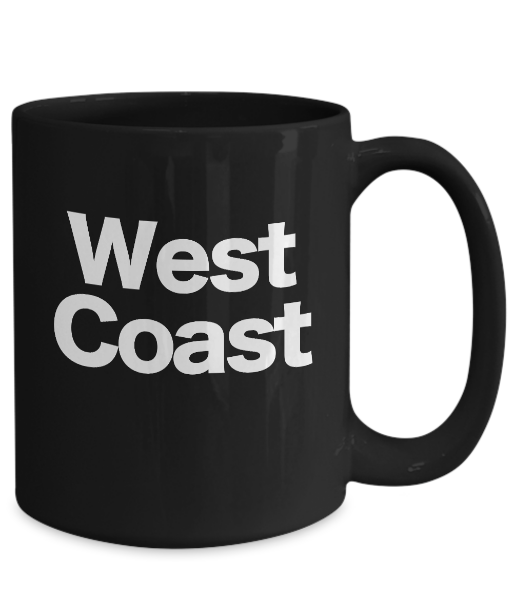Details about  /West Coast Mug Black Coffee Cup Funny Gift for Lake Michigan California Florida