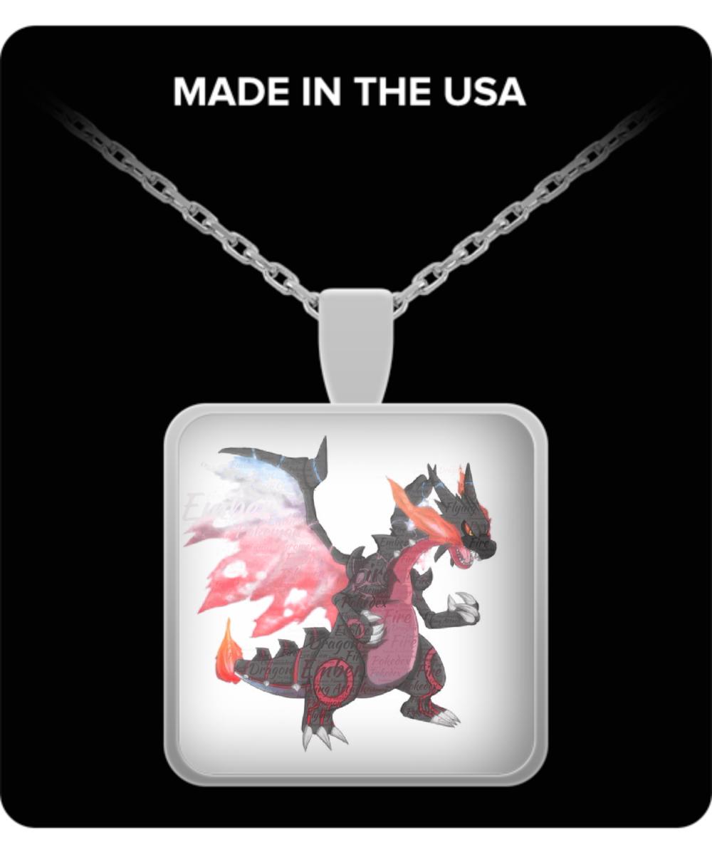 charizard pokemon necklace fire type charmander evolution jewelry gift