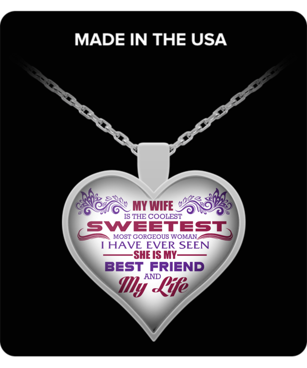 gift wife my chain necklace birthday jewelry husband and front