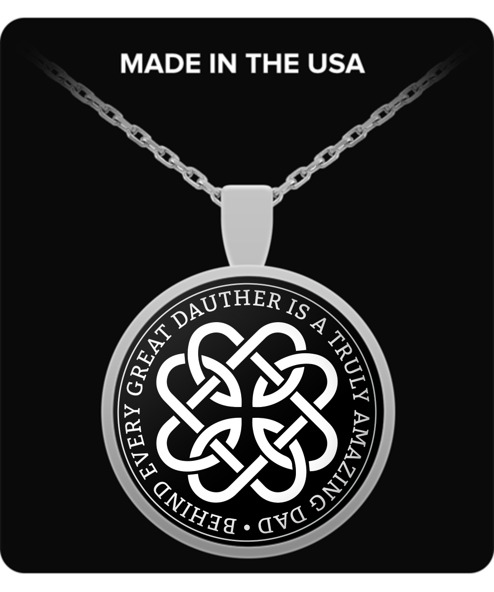 Father Daughter Celtic Knot Necklace