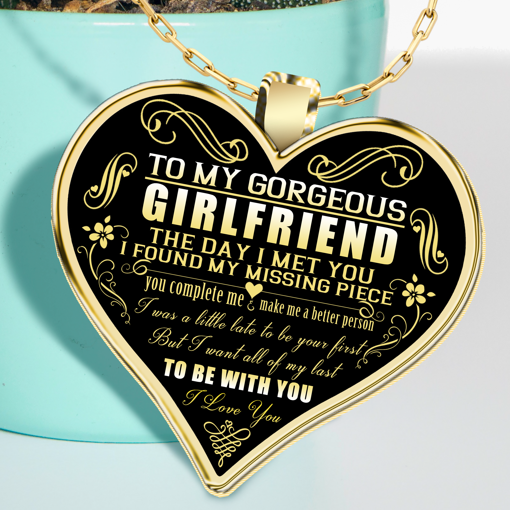 To My Girlfriend Necklace For Best Birthday Gift Gearbubble Campaign