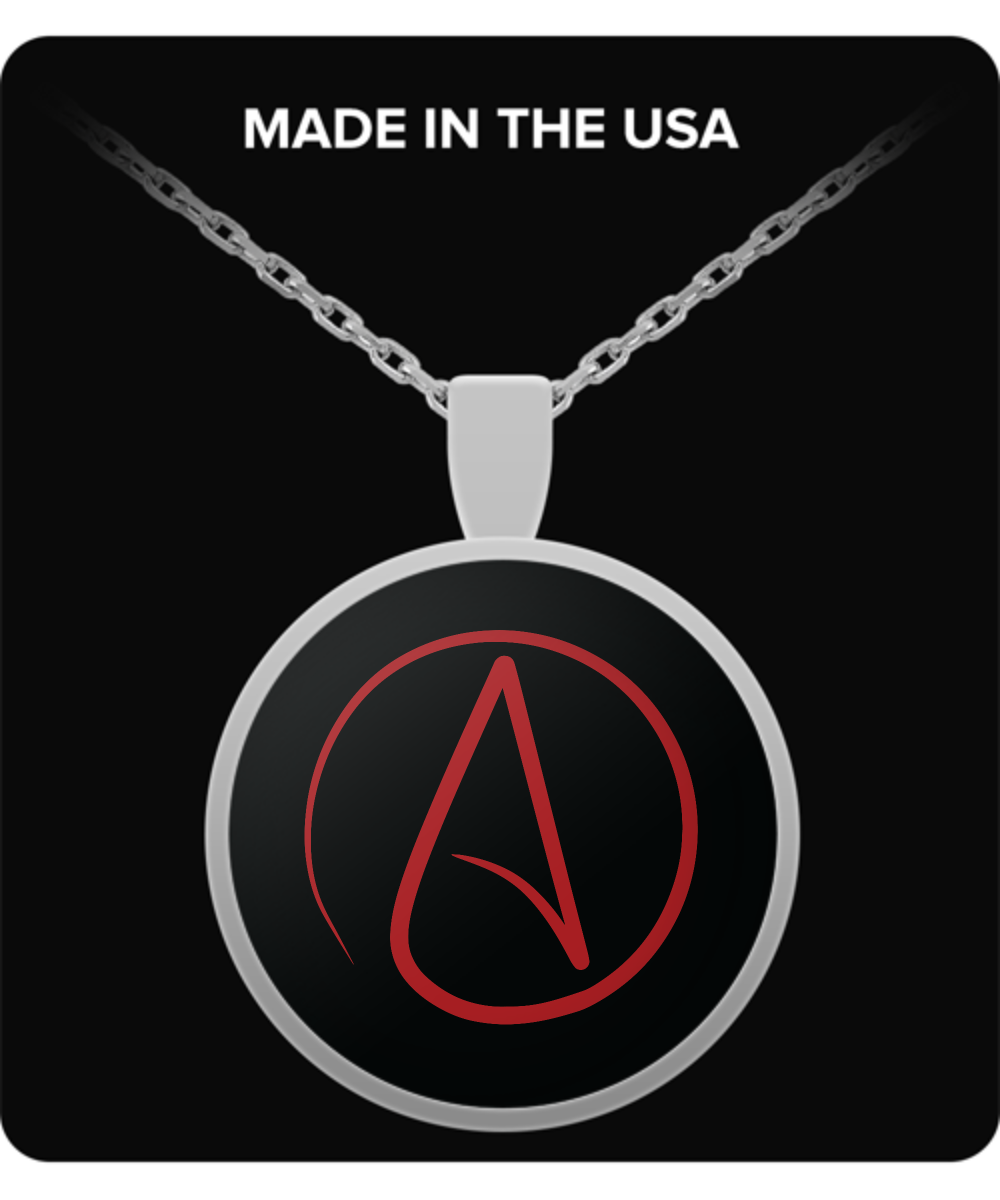 Atheist symbol necklace front aloadofball Gallery