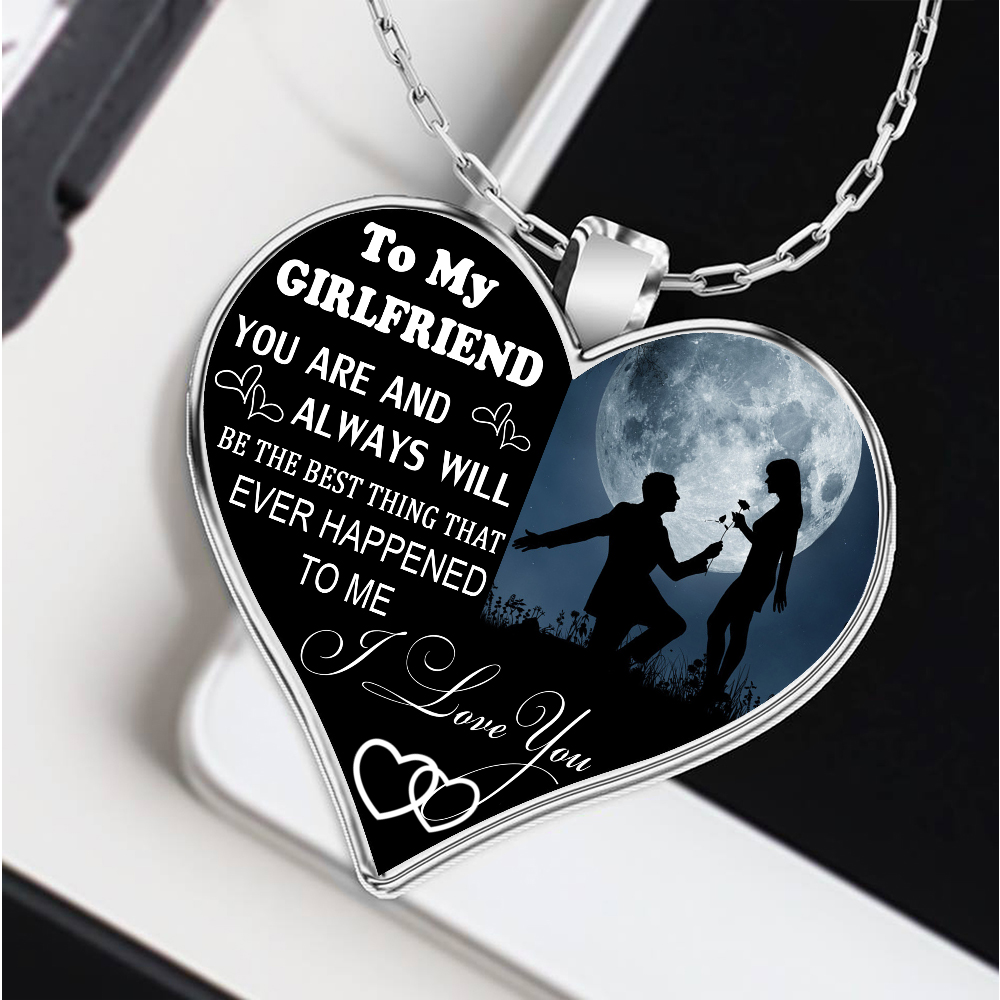 To My Girlfriend Necklace Best Gifts For Birthday Boyfriend And Christmas Gift