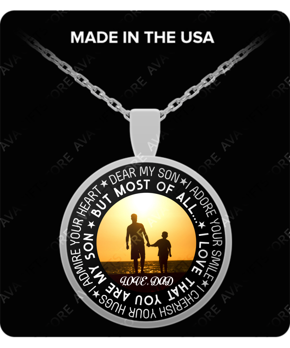 To My Son Necklace Best Gifts For Birthday Mother And Father 261 Gearbubble
