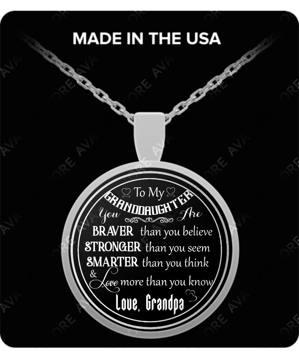 To My Granddaughter Birthday Gifts For Best Special Necklace Grandma And