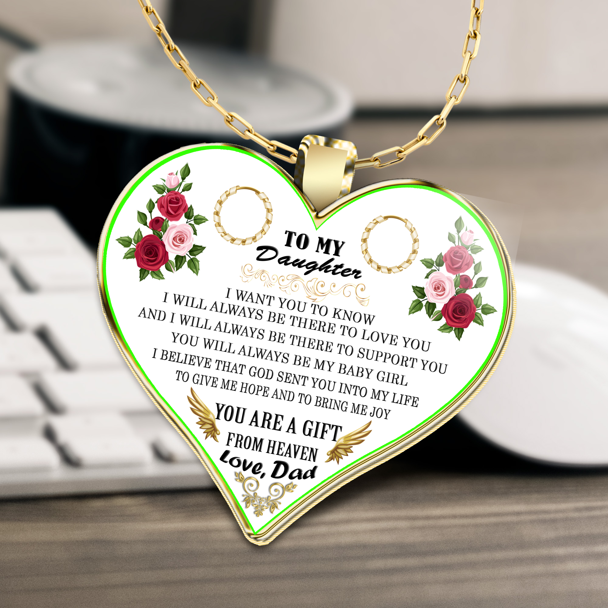 To My Daughter Necklace Best Gifts For Birthday Special Necklacegift