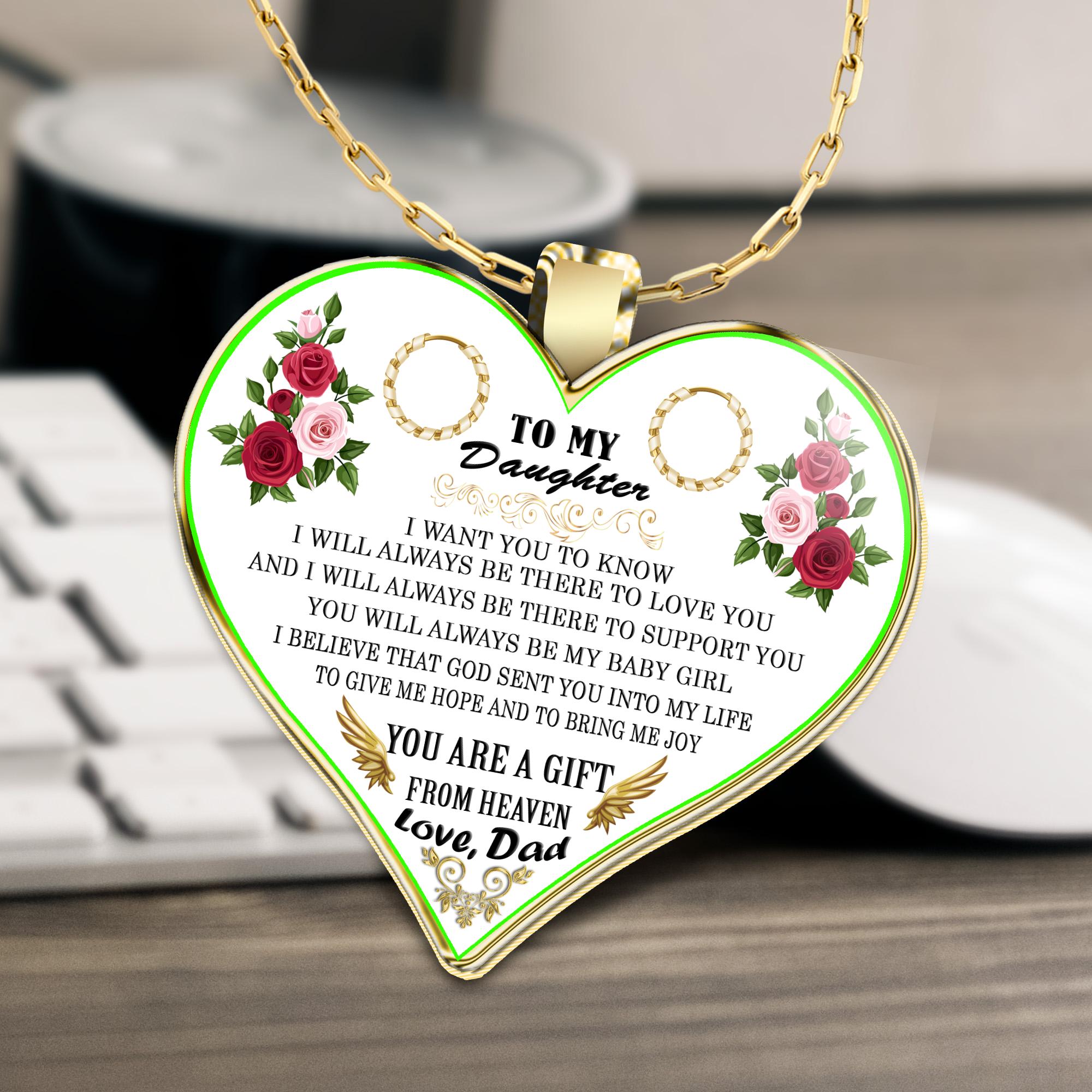 to my daughter daughter necklace to my daughter necklace best