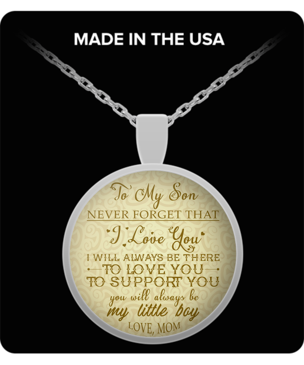 To My Son Necklaceto Necklacebest Gift For Dad