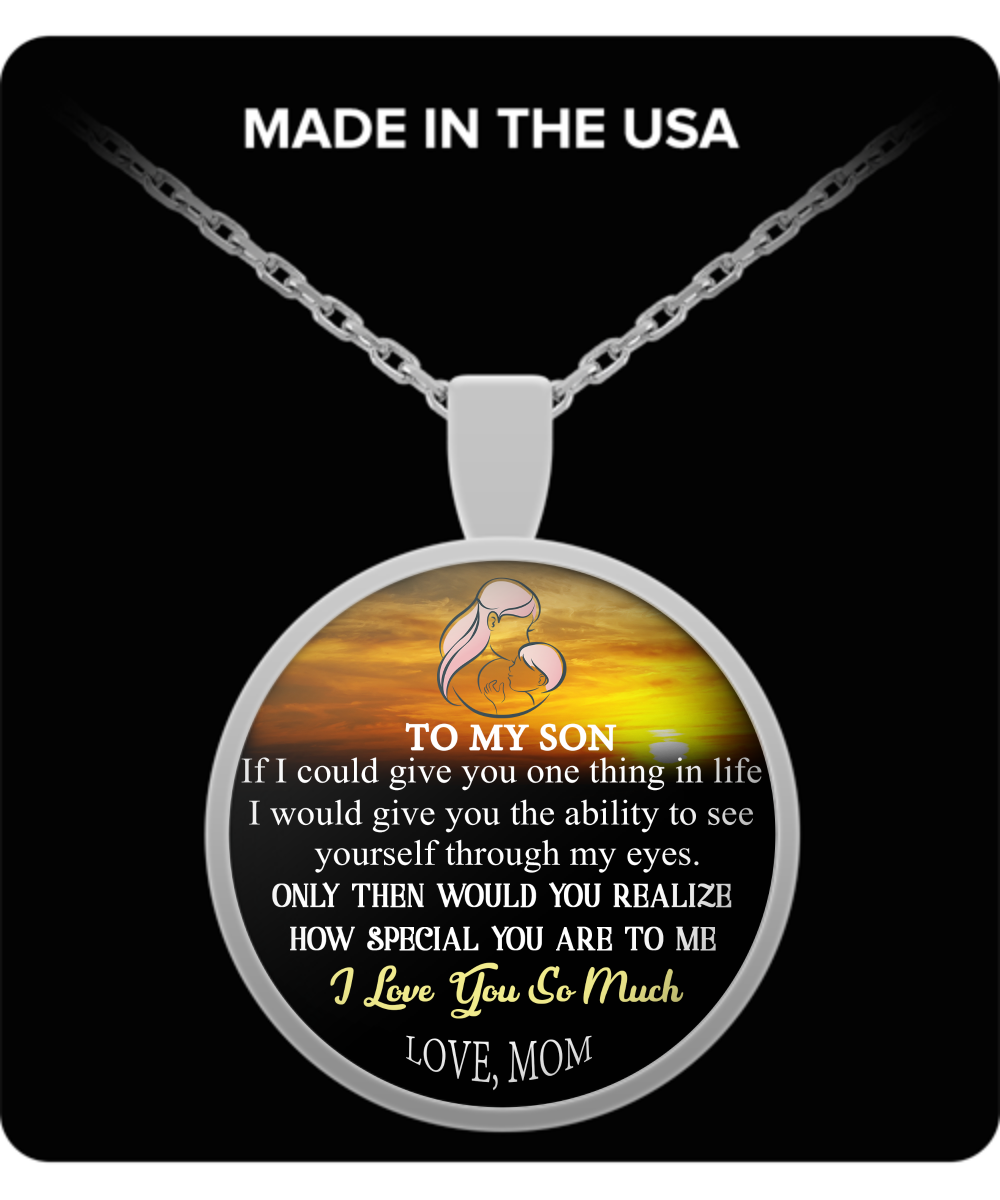 To My Son Necklace Necklaceto Necklacebest Gift For Dad And Birthday From Parents