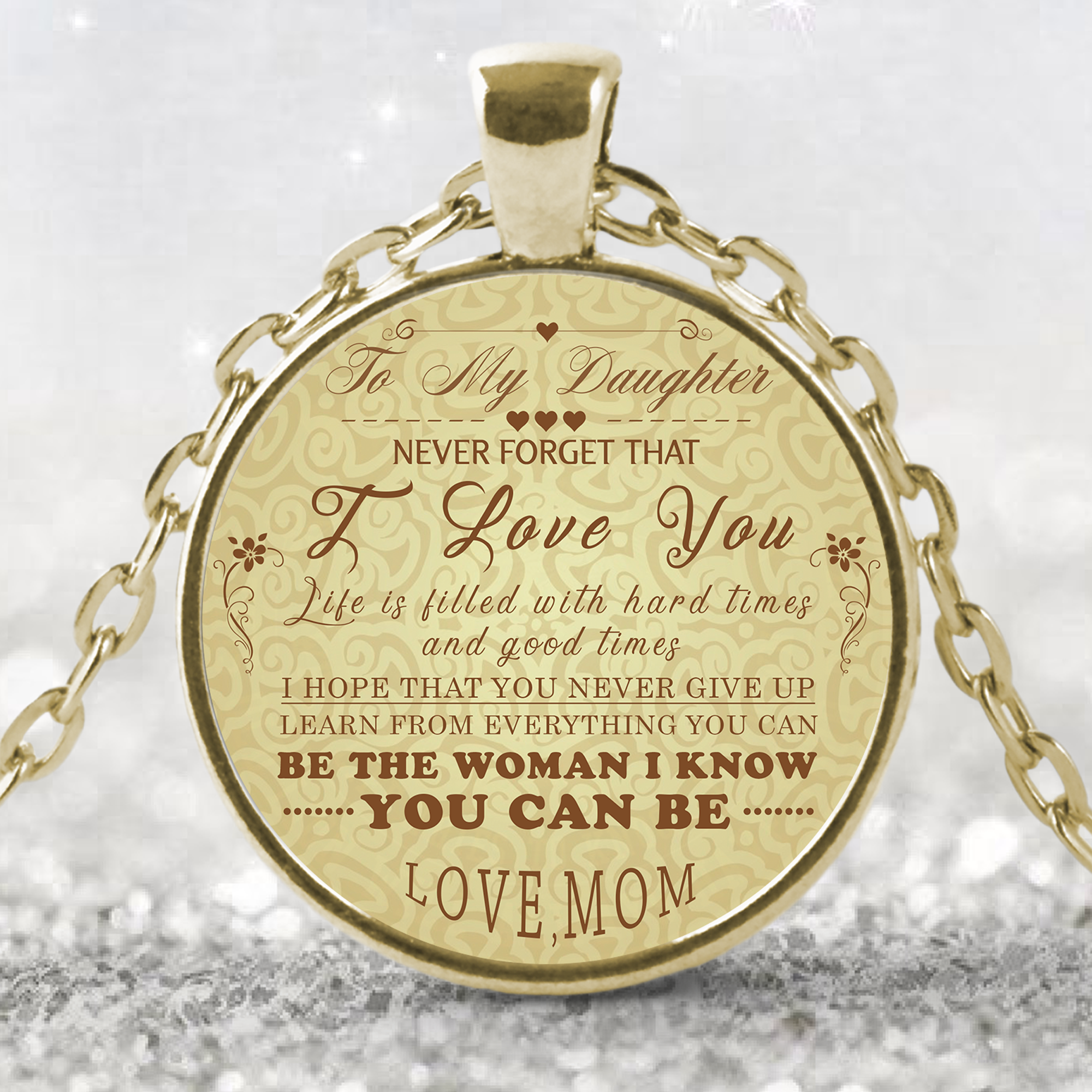 To My Daughter Necklace Necklaceto