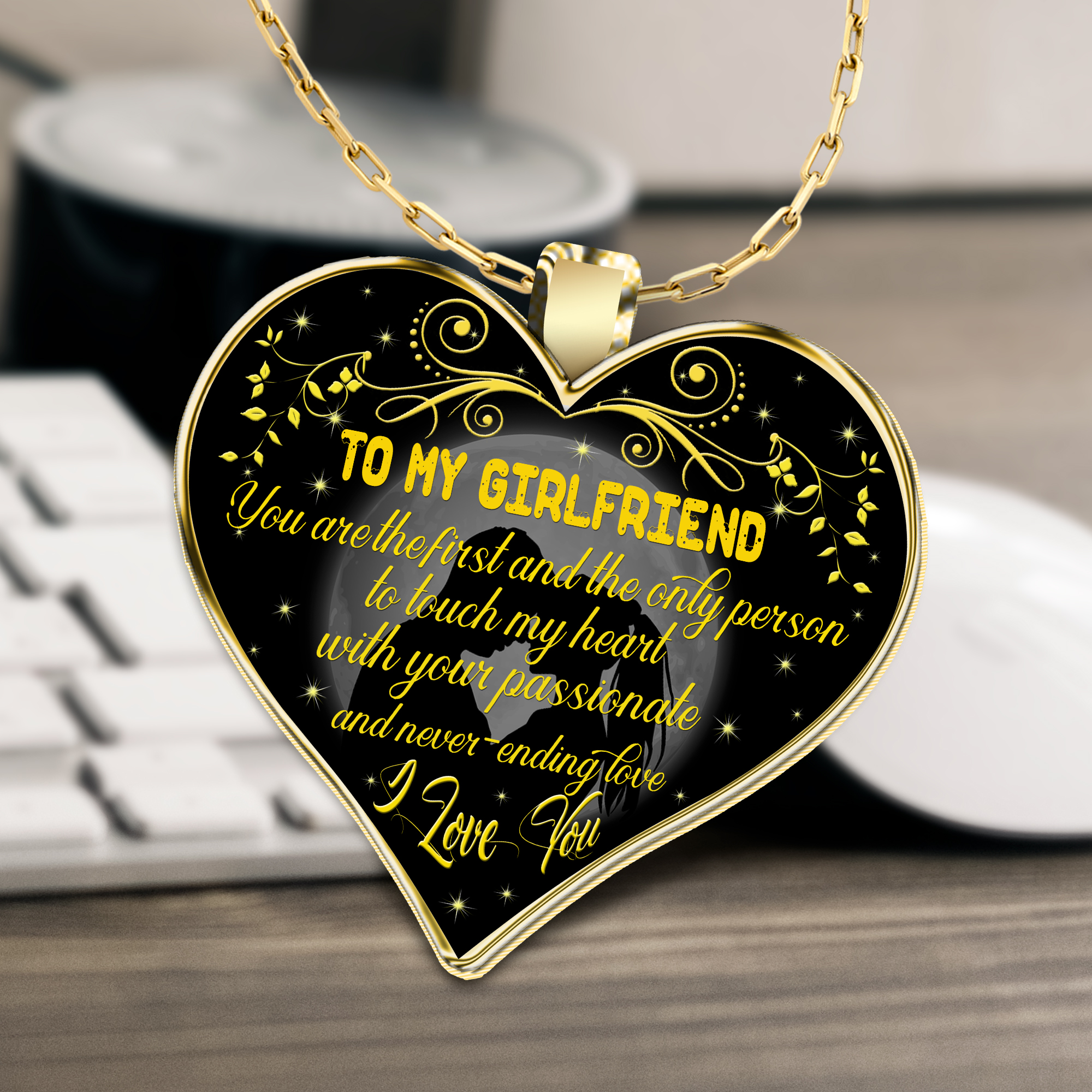 To My Girlfriend Necklace Best Gifts For