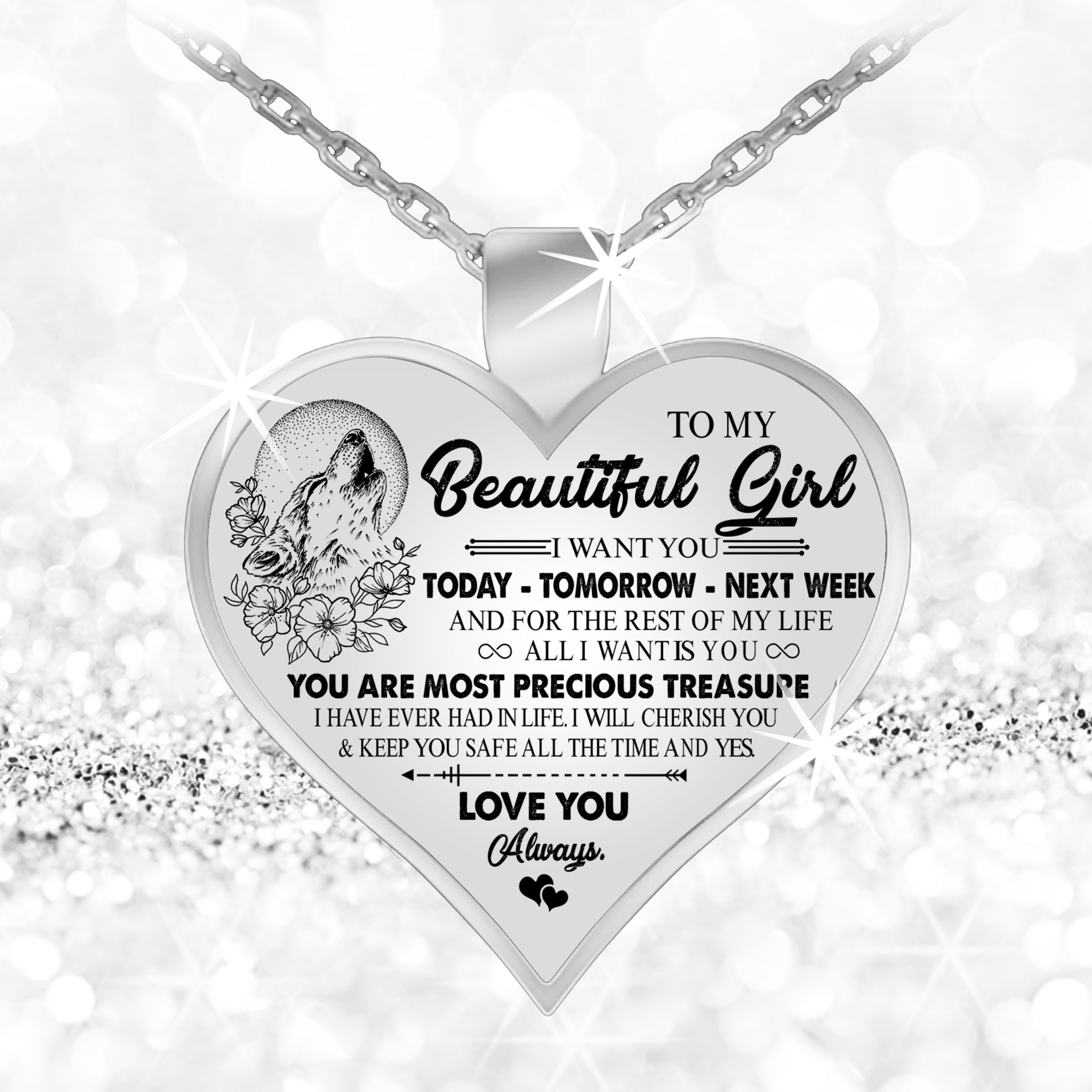 To My Gorgeous Girlfriend Necklaceto Necklace Birthday Gifts For