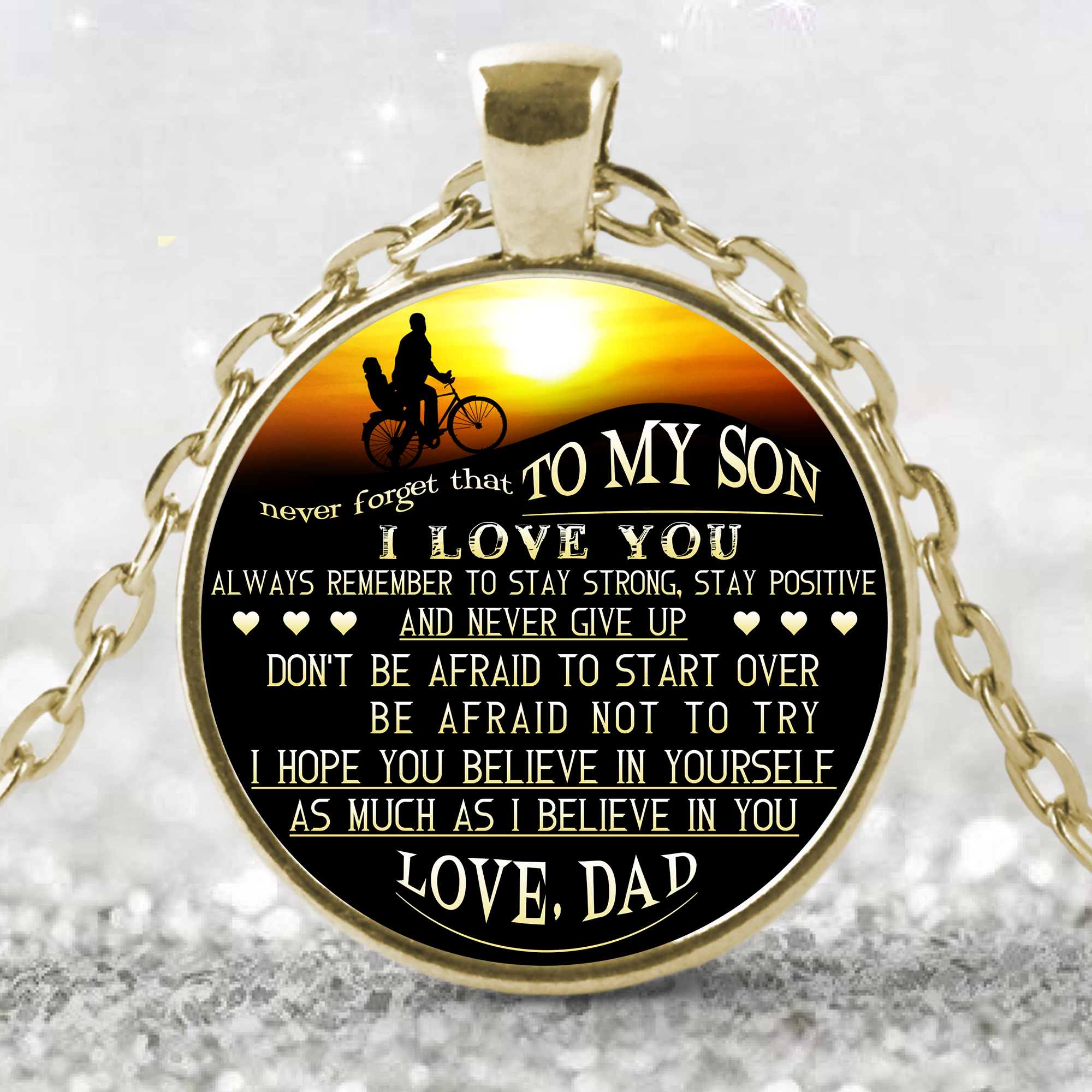 To My Son Necklace Necklaceto Giftbest