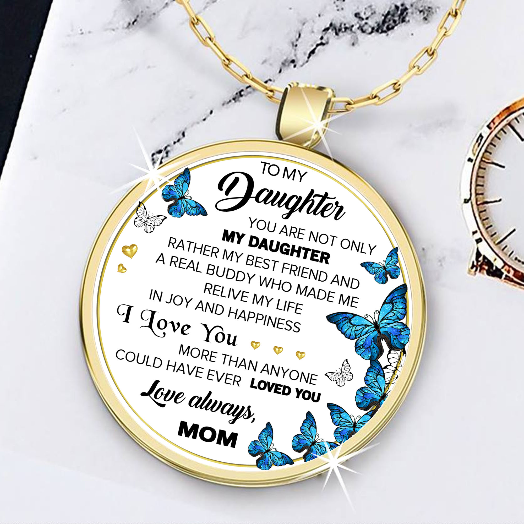 To My Daughter Necklace Birthday