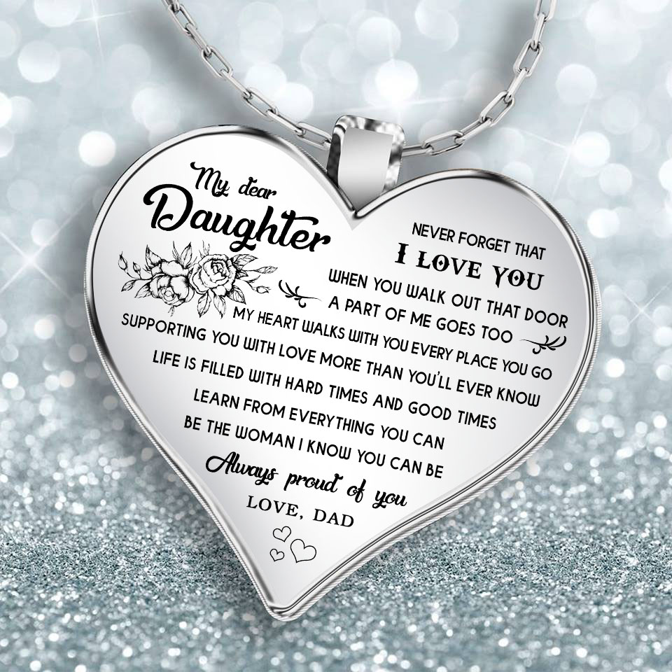 Gifts For Daughter Dad And Necklace Front