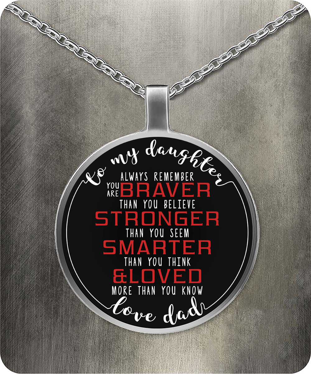 To my daughter necklace front aloadofball Images