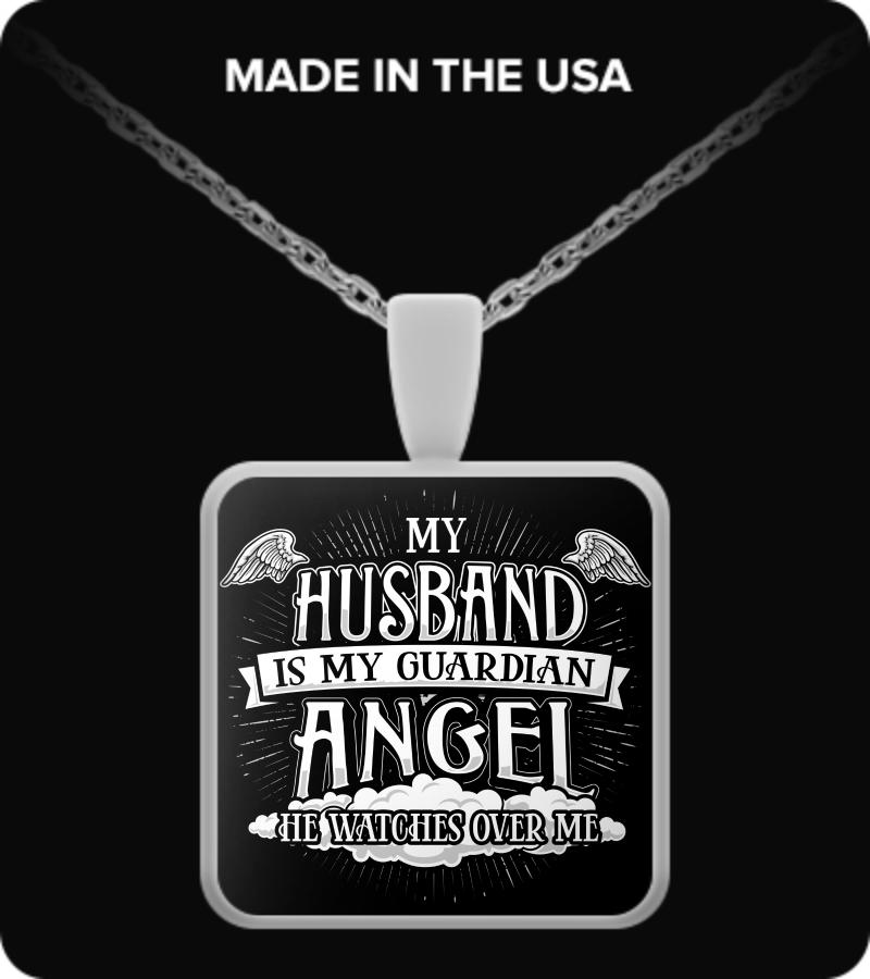 e4d1b2875b My husband is my guardian angel. Front