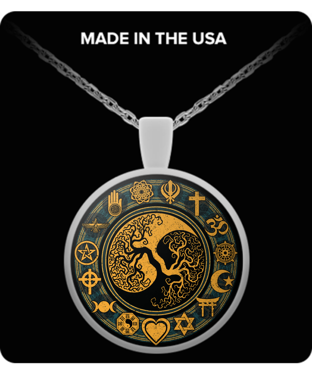 Coexist tree of life necklace front aloadofball Images