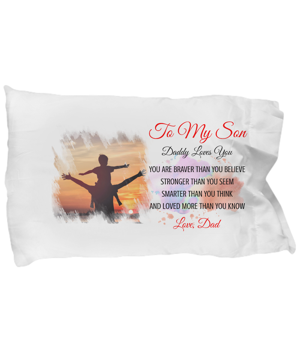 TO MY DAUGHTER - LOVE MOM ♥ PILLOW CASE ♥
