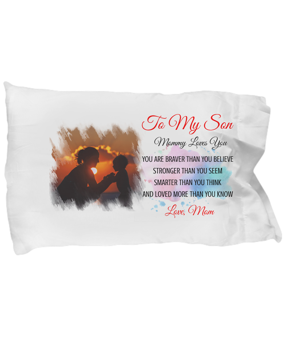 TO MY SON - LOVE MOMMY PILLOW CASE
