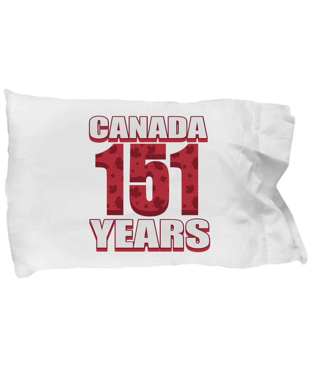 Cute Pillow Covers Design Canada 151 Years Anniversary Canada Day Gift Pillow Cover Ideas