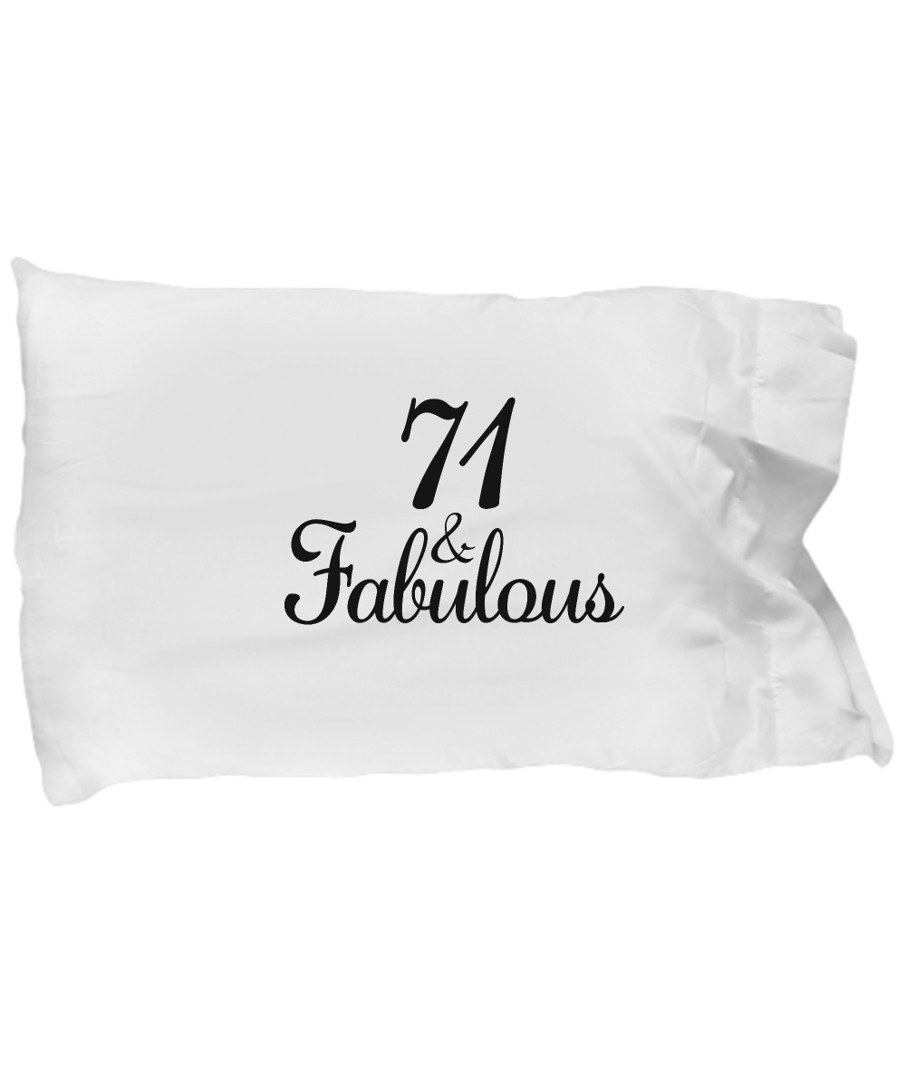 71st Birthday Pillow Case