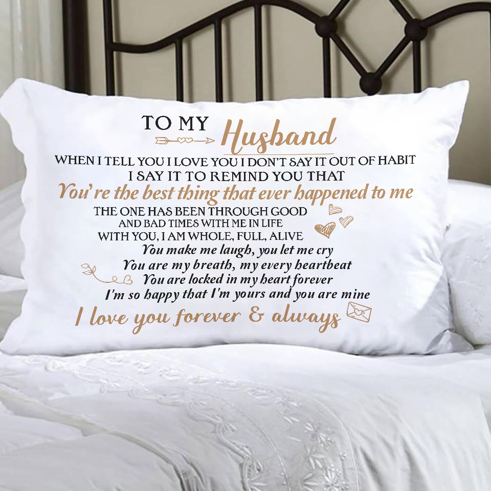 Husband Pillow For Gifts To My Best Gift And Wife