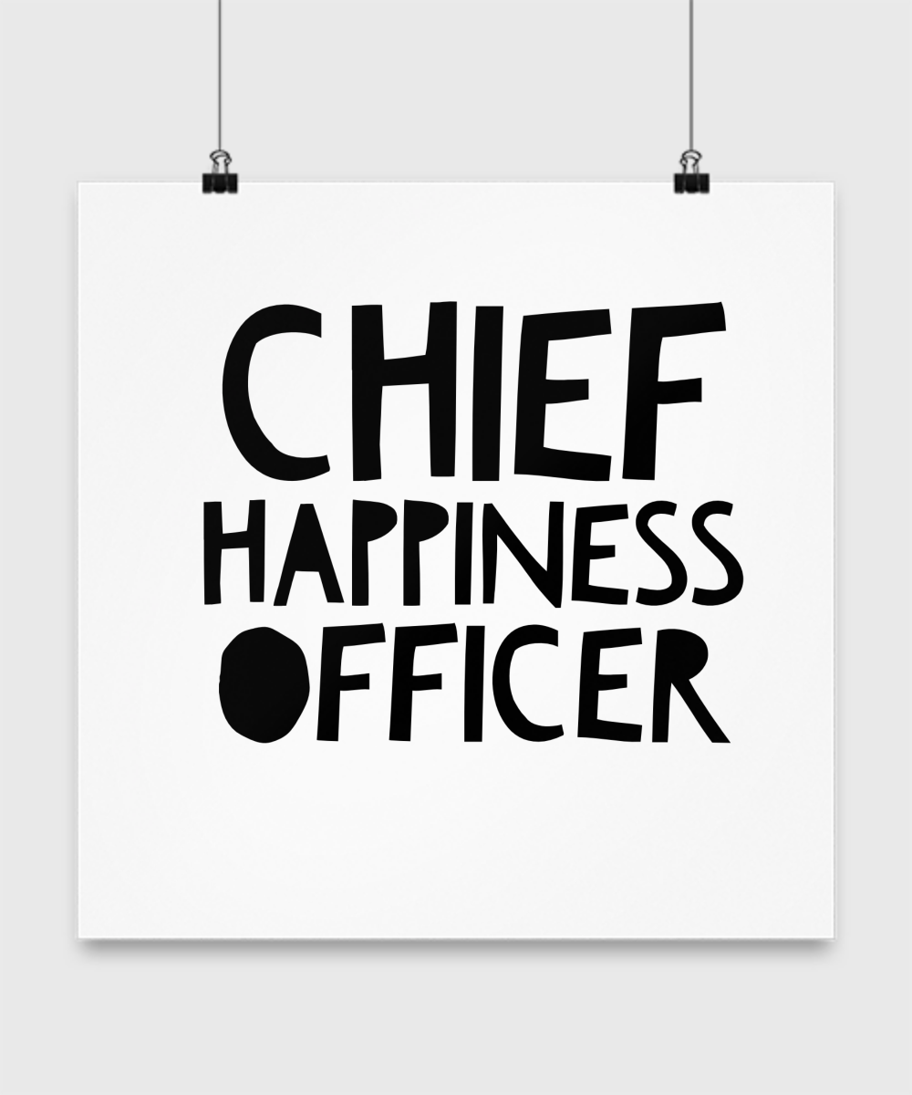 chief happiness officer poster