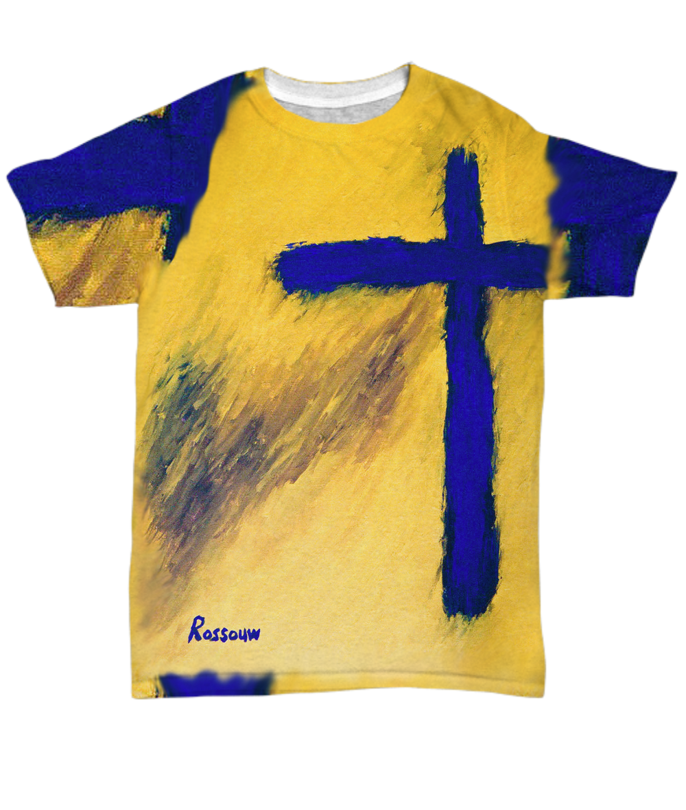 """BUY This """"Faith Cross T-Shirt"""" by Rossouw. Clothing for ..."""