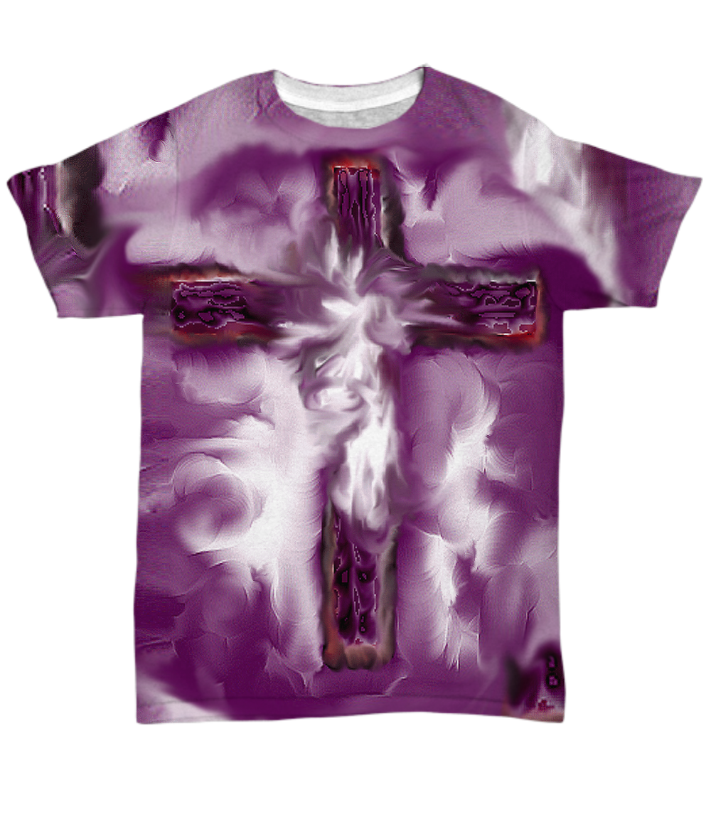 """""""Tears of an Angel"""" Faith Cross T-Shirt by Rossouw ..."""