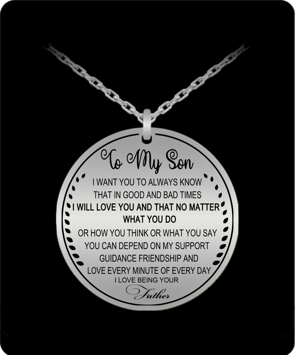 Father And Son Necklace Son Necklace From Dad Son Necklace To My