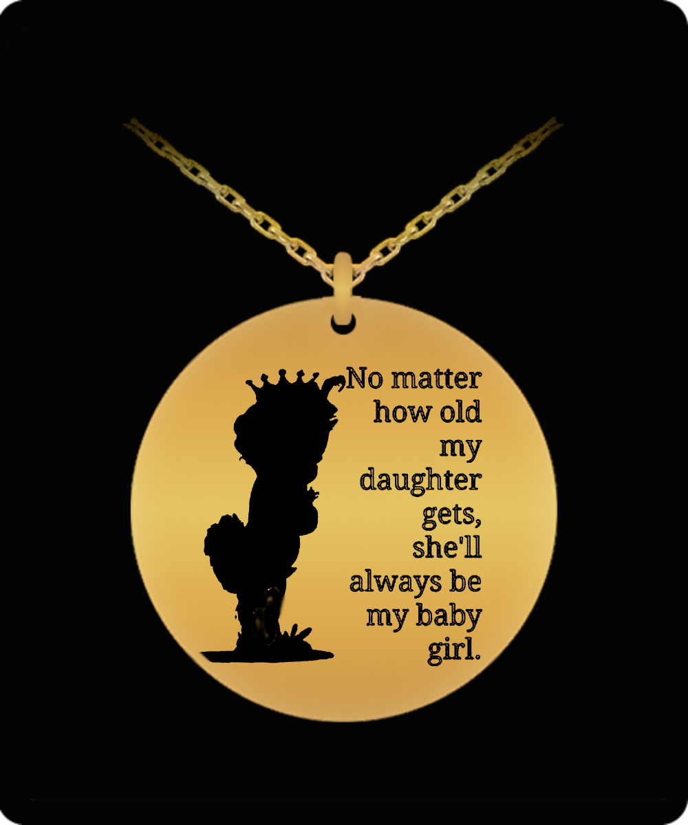 Shell always be my baby girl laser engraved pendant necklace front aloadofball Gallery