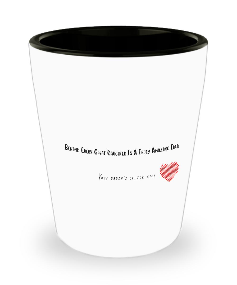 Awesome Daughter Christmas and Father\'s Day Gift for Dads Shot Glass