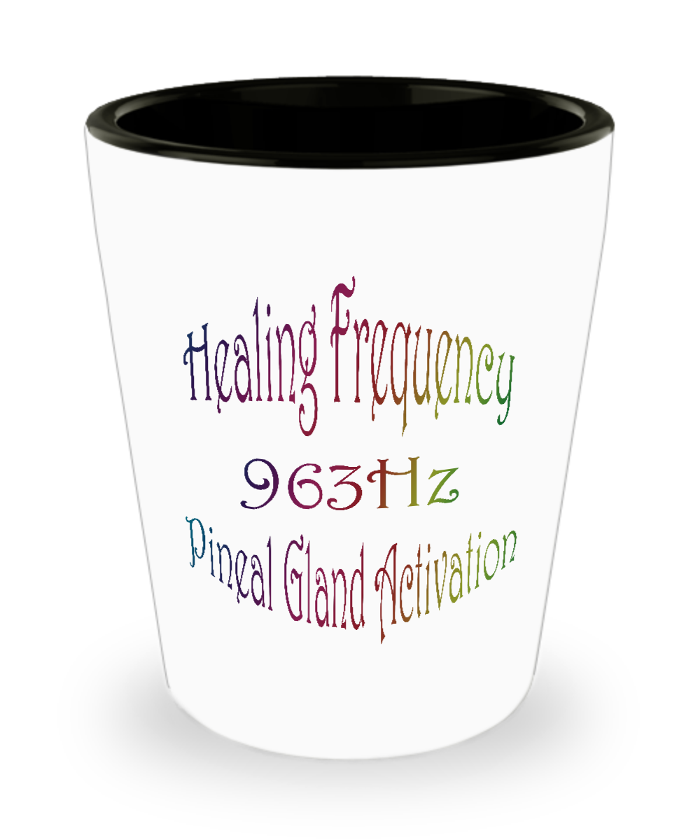 Yoga Shot Glass Healing Frequency 963Hz Pineal Gland Activation