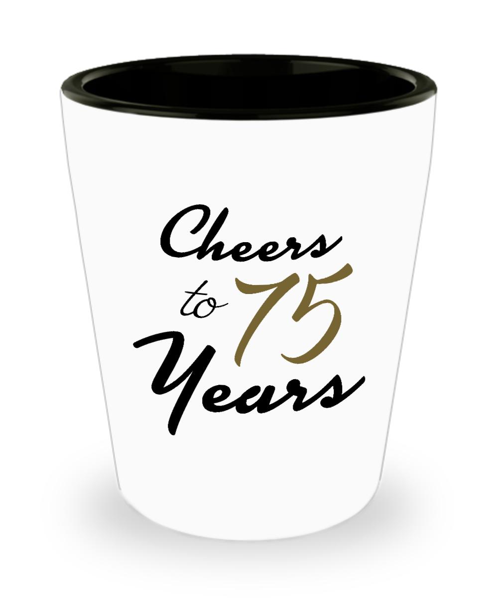 75th Birthday Shot Glass