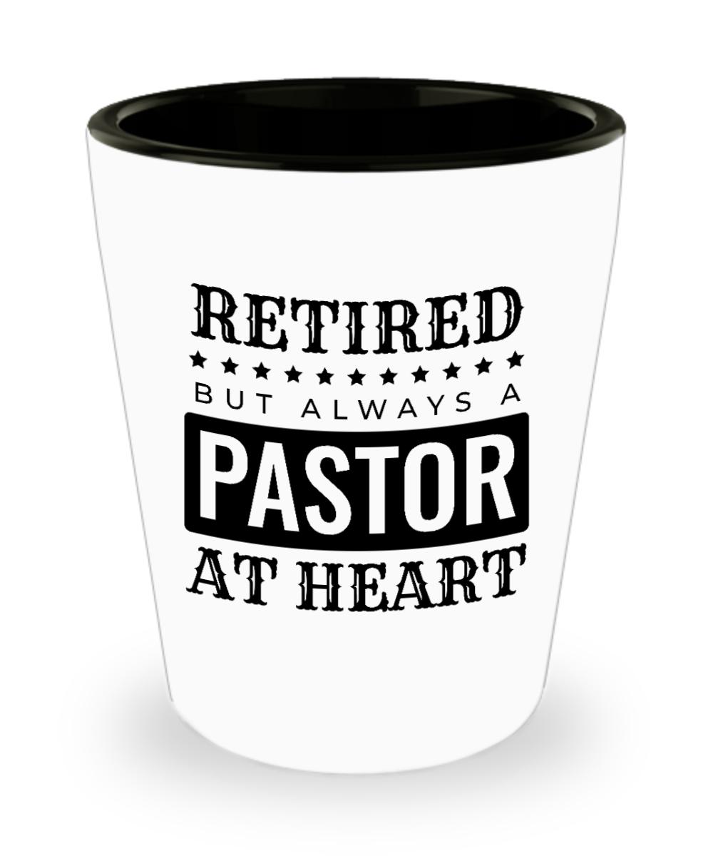 Retired Pastor Shot Glass | Retirement Gift for Pastors: Gearbubble Campaign