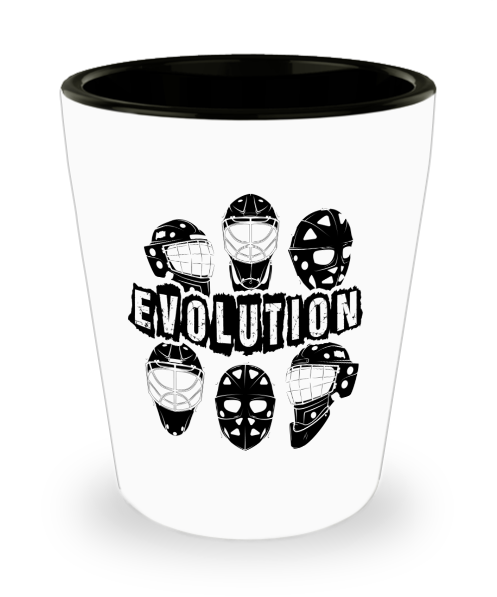 Funny Novelty Gift For Ice Hockey Player Goalie Mask Evolution Ice