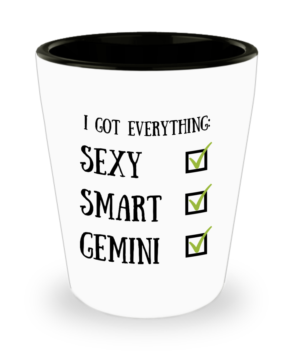 Gemini Astrology Shot Glass Glasses Astrological Sign Sexy