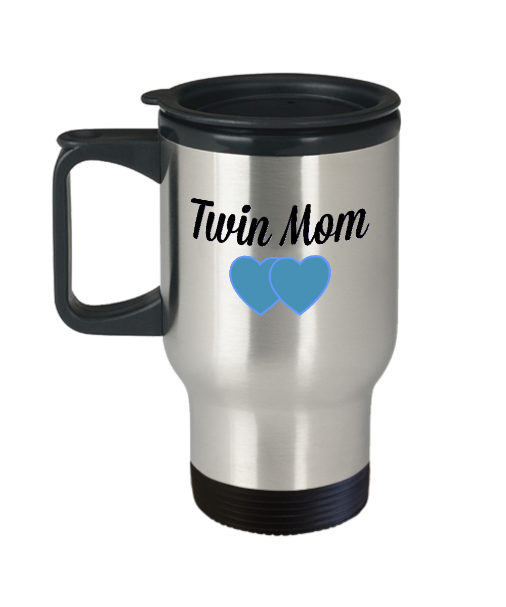 Front  sc 1 st  Gearbubble & TWIN MOM Travel Mug Mom Mug Twin Boys Mom of Twins Boy ...