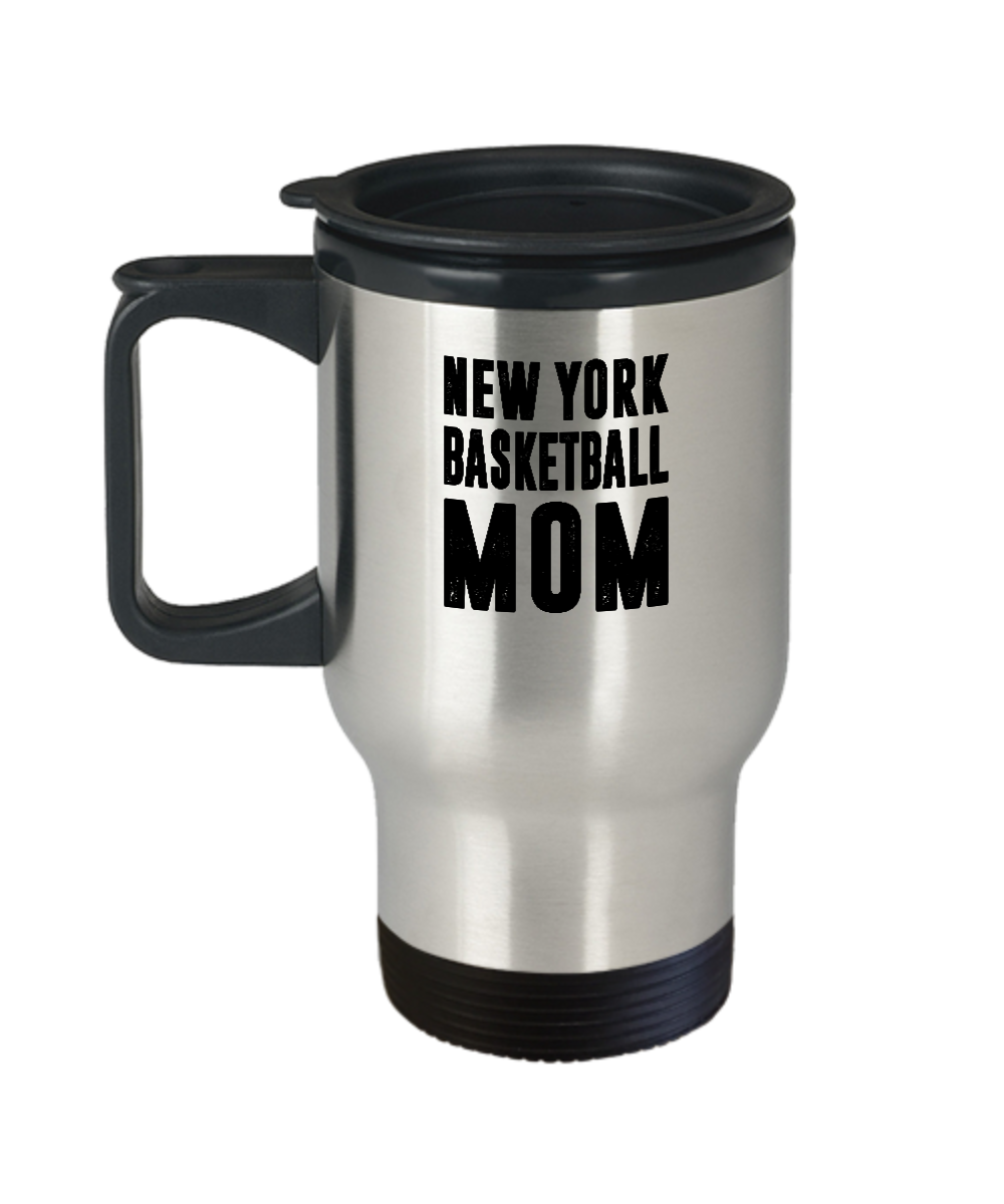 New York Basketball Mom Travel Mug