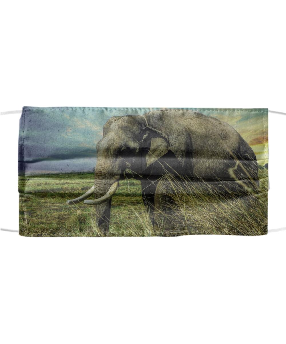 Elephant 3 Face Mask Including transparent png clip art. elephant 3 face mask
