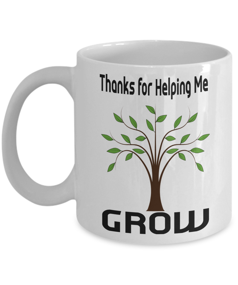 coffee mug thanks for helping me grow teacher gift ebay