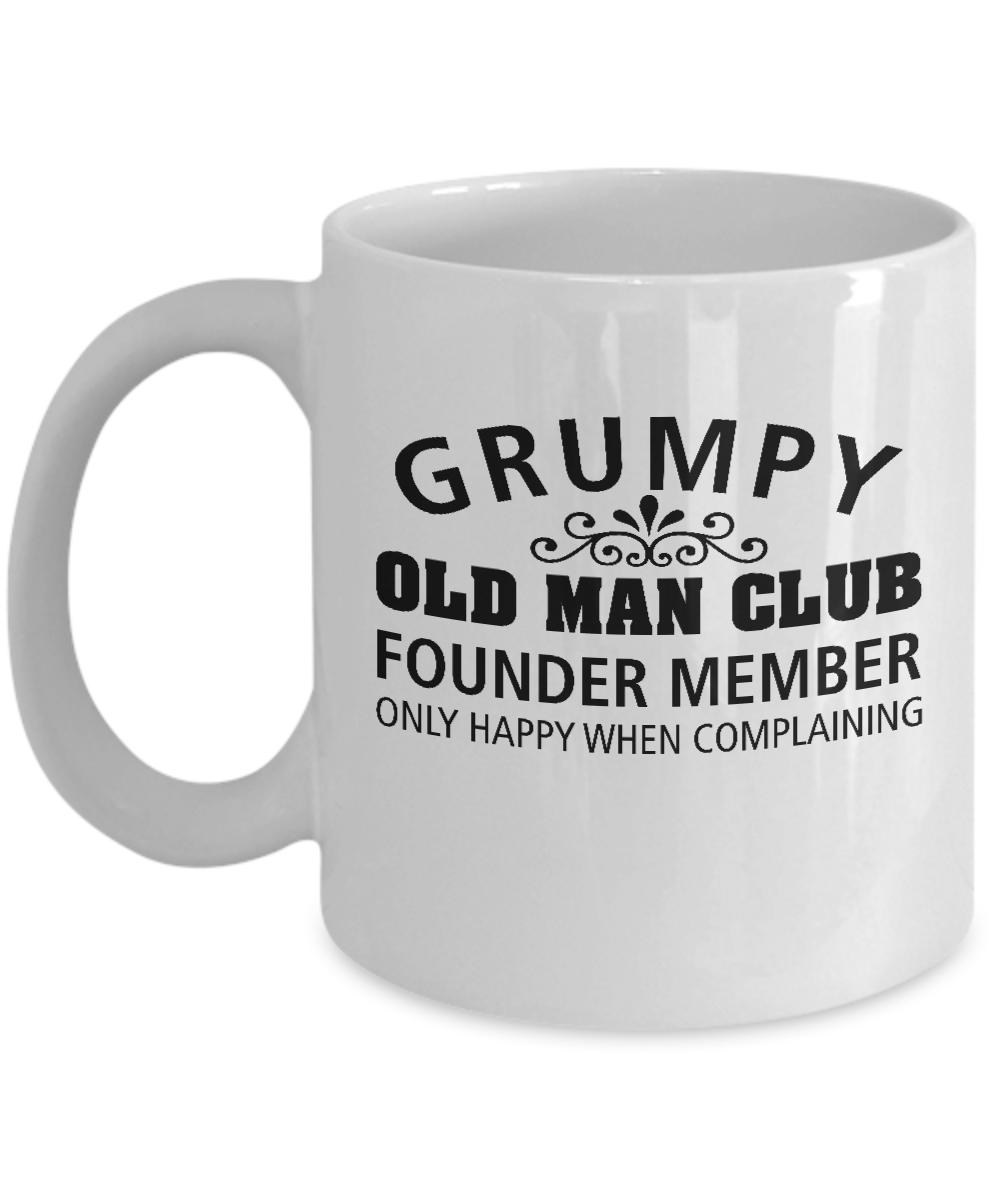 99d9d816b5f0a Grumpy Old Man Club T Shirt. Front