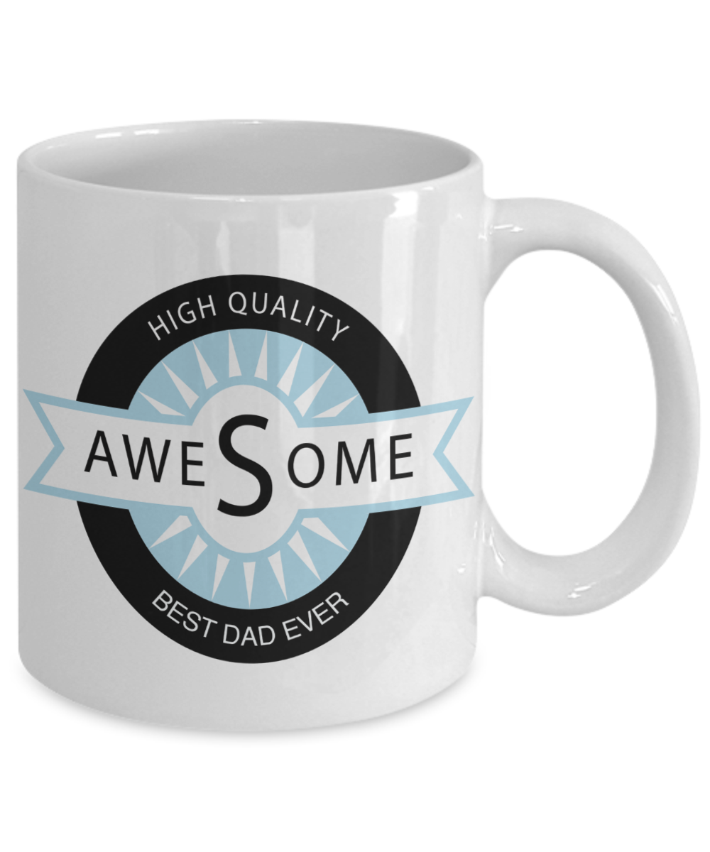 Awesome Best Dad Ever Gift Mug - Birthday Christmas or Fathers Day ...