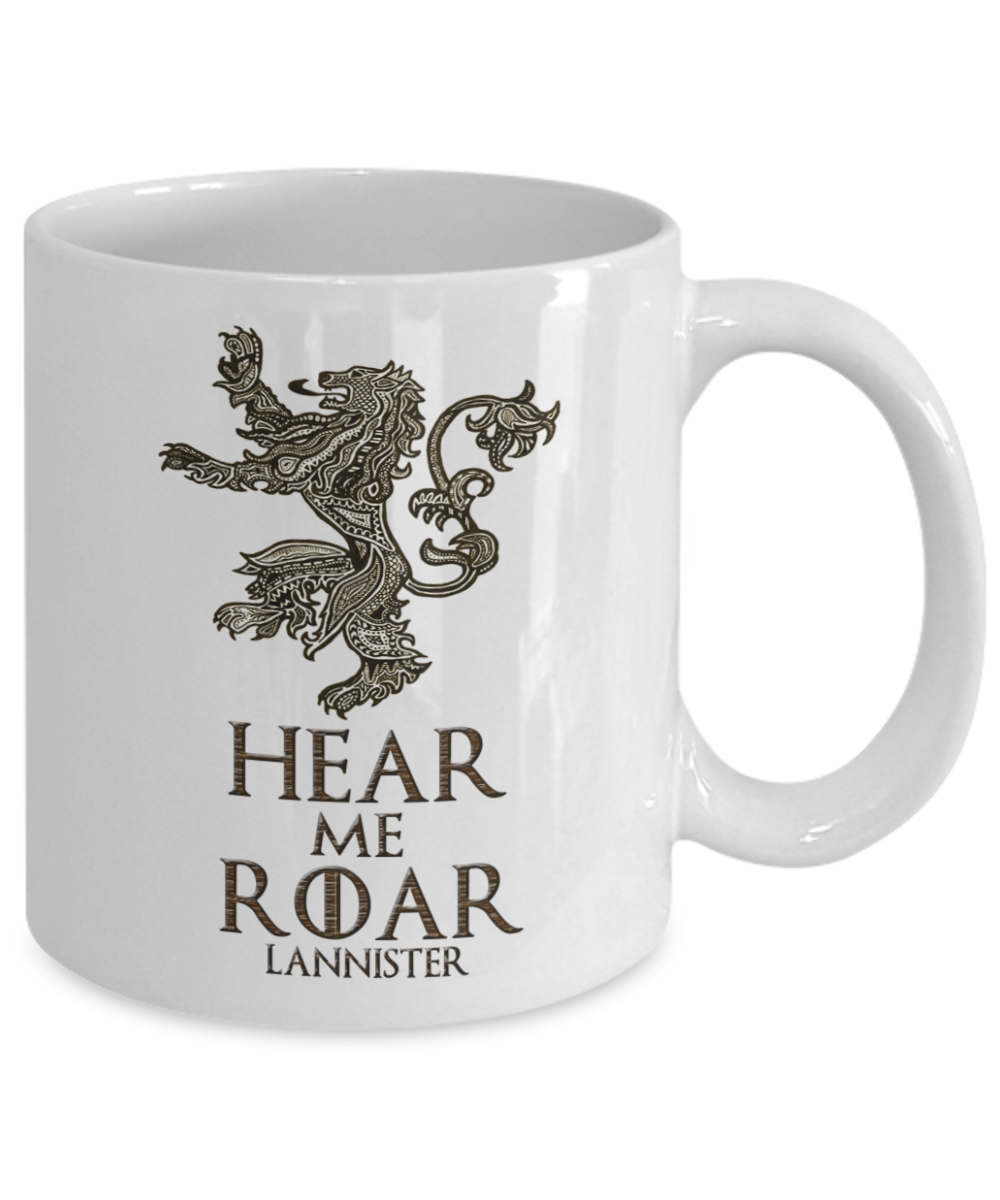 Game Of Thrones Mug Lannister Hear Me Roar Got Fans