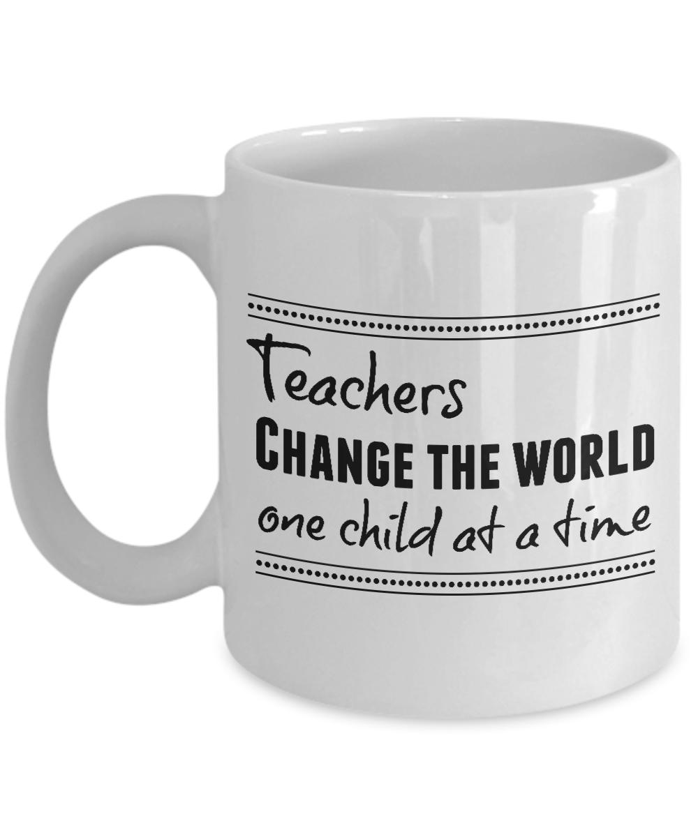 Teachers Change The World Teacher Mug Teacher Gift Ideas Teacher Cups Gifts For Teachers Teachers Day Teacher Appreciation