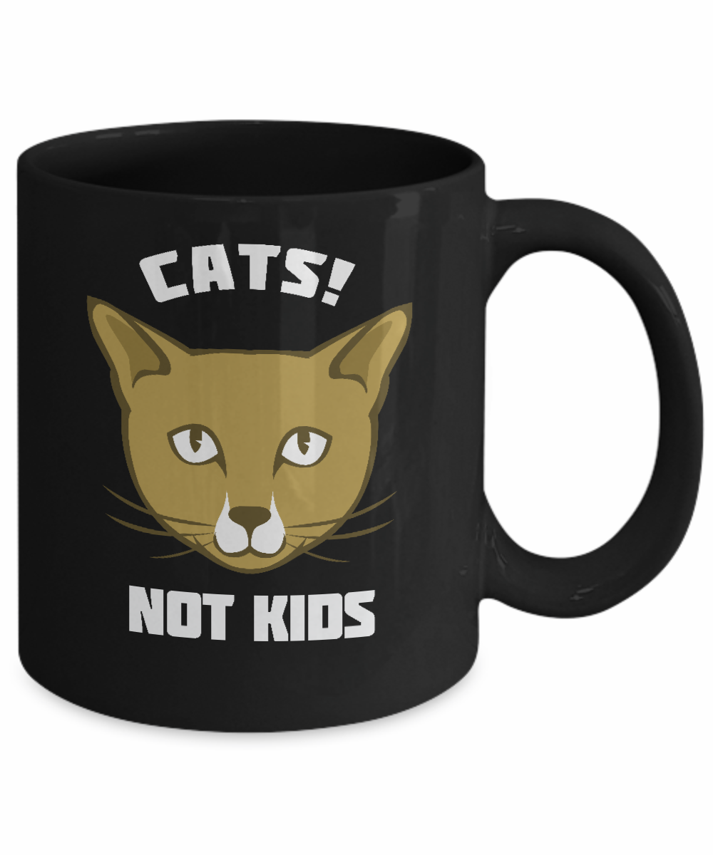 Funny Meme Coffee Mugs : Poisena cats not kids funny cat gifts lovers